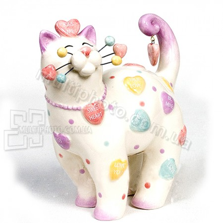 Фарфоровая статуэтка Pavone CMS кот Ля-Муррр 16 см