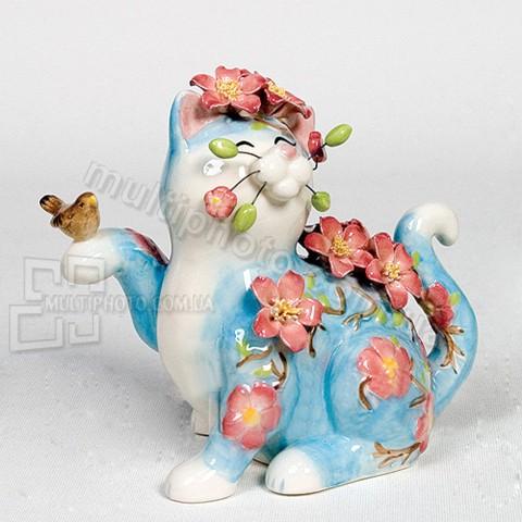 Фарфоровая статуэтка Pavone CMS кот Гла-Муррр 12 см