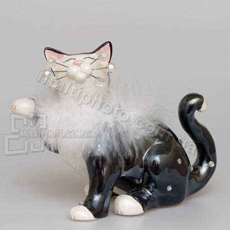 Фарфоровая статуэтка Pavone CMS кошка Ча-Ча 12 см