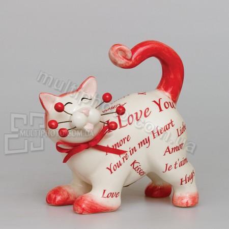 Фарфоровая статуэтка Pavone CMS кот Ля-Муррр 12 см