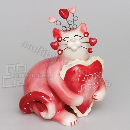 Фарфоровая статуэтка Pavone CMS кошка Ля-Муррр 14 см