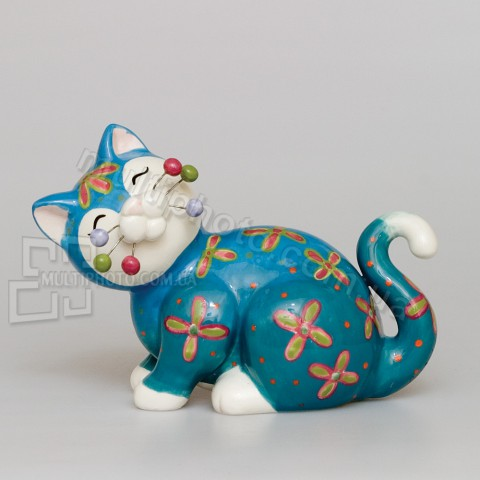 Фарфоровая статуэтка Pavone CMS кот Кексик