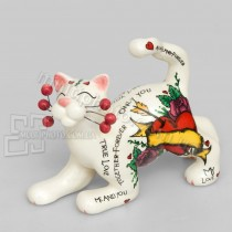 Фарфоровая статуэтка Pavone CMS кот Лавелас 9 см