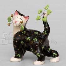 Фарфоровая статуэтка Pavone CMS кайфовый кот 15 см