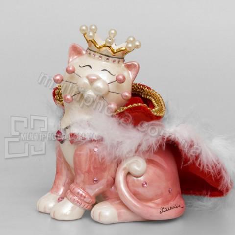 Фарфоровая статуэтка Pavone CMS кошка Принцесса 13 см
