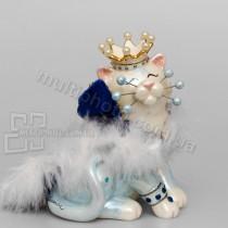 Фарфоровая статуэтка Pavone CMS кот Король 13 см