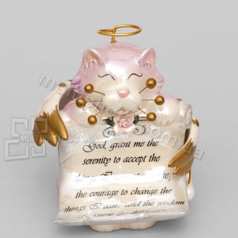 Фарфоровая статуэтка Pavone CMS кот Анджело 14 см