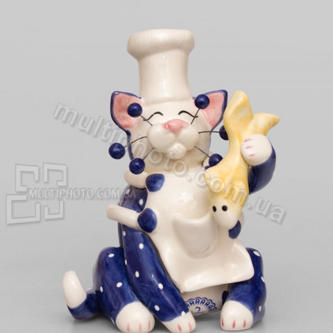 Фарфоровая статуэтка Pavone CMS кот Шеф 13 см