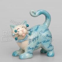 Фарфоровая статуэтка Pavone CMS кот с поздравлениями 12 см