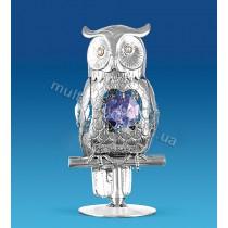 Фигурка AR-1203 серебристая Сова с кристаллами