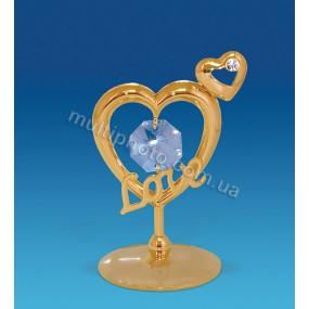 Фигурка AR-1246 Сердечки с любовью с кристаллами