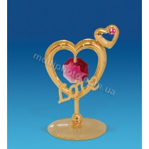 Фигурка AR-1247 Сердечки с любовью с кристаллами