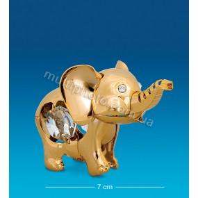 Фигурка Юнион AR-1288- 1 Слоненок с цветными кристаллами