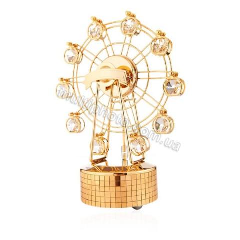 Музыкальная фигурка AR-1308 Колесо обозрения золотое