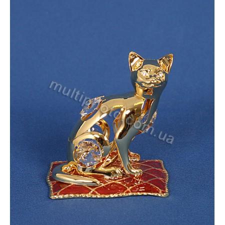 Фигурка AR-3746- 2 Кошка на подушке с кристаллами