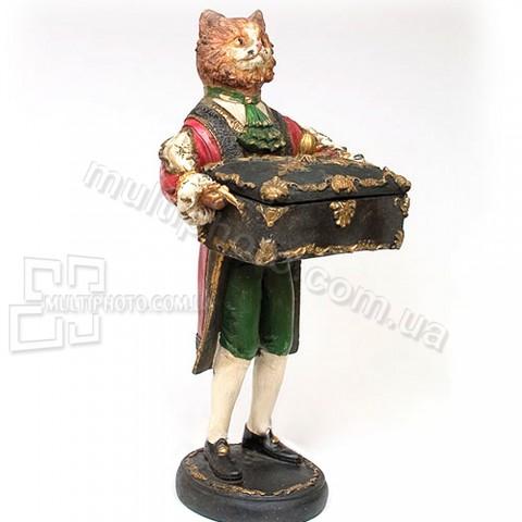 Статуэтка со шкатулкой NS-12 кот Чарльз 42 см