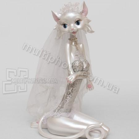 Статуэтка SM-144 кошка невеста 32 см