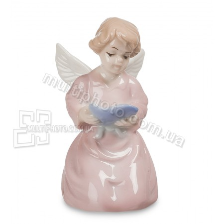 Статуэтка ангела из фарфора Pavone JP-20-12 Ангел в розовом