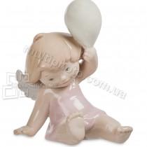 Фарфоровая фигурка Pavone JP-54-4 Ангелочек с шариком