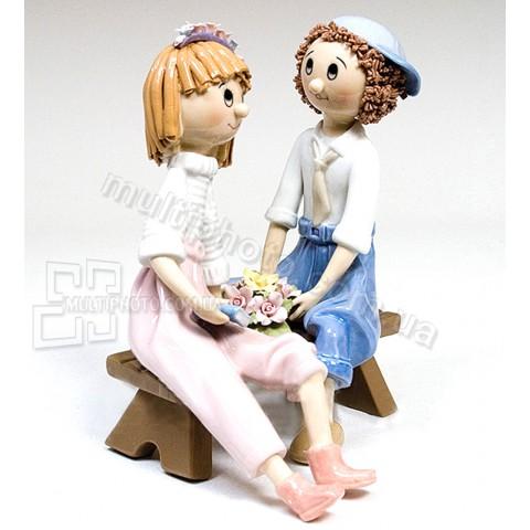 Фарфоровая статуэтка Pavone CMS влюбленная парочка 19 см