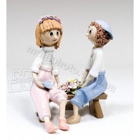 Фарфоровая статуэтка Pavone CMS влюбленная парочка 15 см