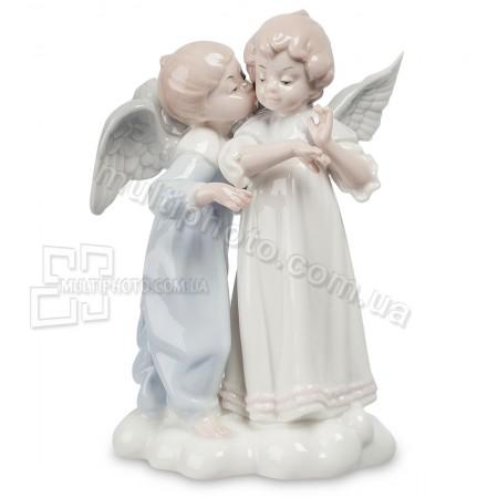 Фарфоровая статуэтка Pavone JP парочка ангелов 17 см