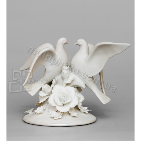 Фарфоровая статуэтка Pavone CMS голуби 12 см