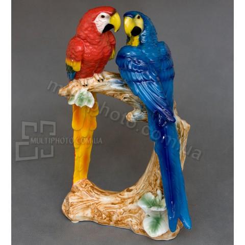 Фарфоровая статуэтка Pavone XA-308 пара попугаев 35 см