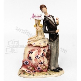 Фарфоровая статуэтка Pavone CMS леди и джентельмен 23 см