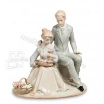 Фарфоровая статуэтка Pavone JP цветы для Любимой 24 см