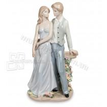 Фарфоровая статуэтка Pavone JP влюбленная пара 31 см