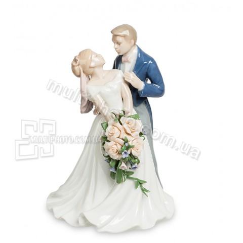 Фарфоровая статуэтка Pavone JP венчальный день 18 см
