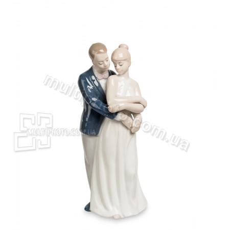 Фарфоровая статуэтка Pavone JP пара влюбленных 13 см