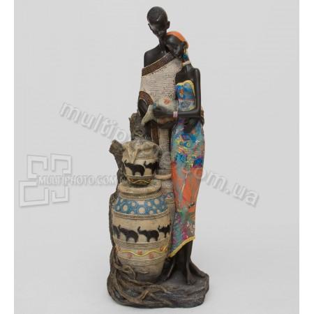 Статуэтка-фонтан SM-162 африканская пара 53 см