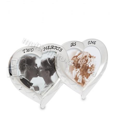 Рамка для фото CHK-013 Влюблённые сердца на 2 фото
