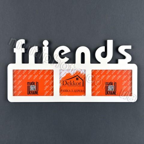 Рамка деревянная с надписью Friends на 3 фото