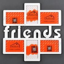 Рамка деревянная с надписью Friends на 6 фото
