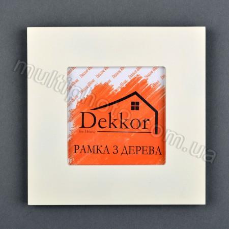 Деревянная рамка Decor for home для фото 10x10 см