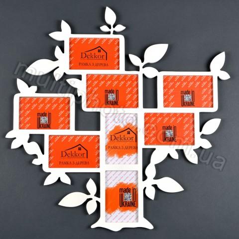Деревянная рамка Семейное дерево для 8 фото