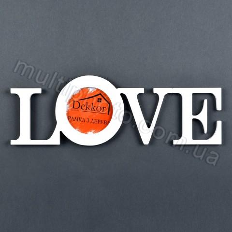 Рамка Decor for home Love 41x14 см