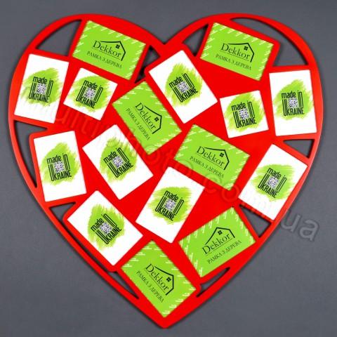 Рамка для фото Decor for home на 16 фото красное Сердце