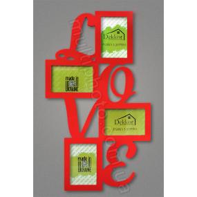 Рамка для фото Love в красном цвете