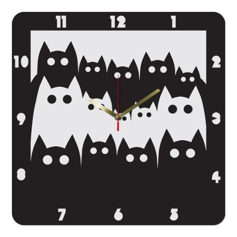 Настенные часы Коты 1-0005