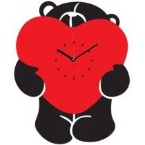 Часы настенные Мишка с сердцем 1-0095
