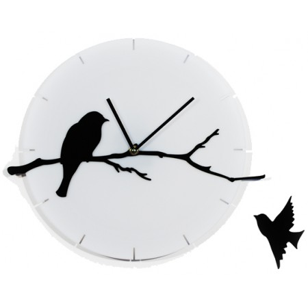 Часы настенные Птичка на ветке 1-0102