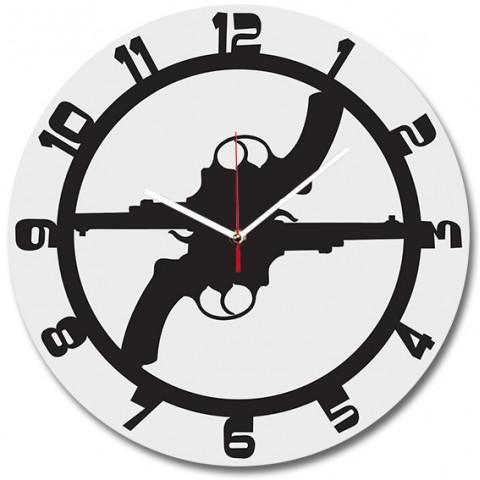 Часы настенные Револьвер 1-0108