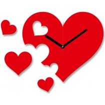 Часы настенные Сердечки 1-0114