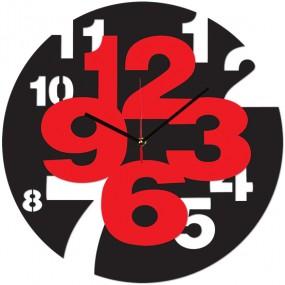 Часы настенные Цифры в цифрах 1-0137