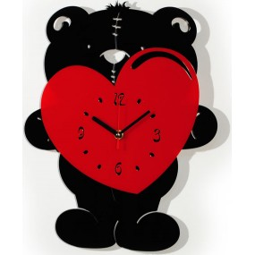Часы настенные Медвеженок с сердцем 1-0185