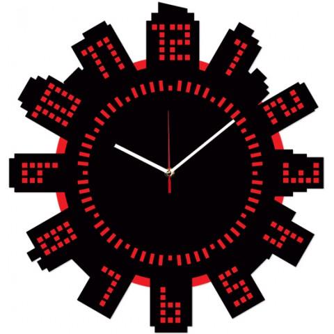 Часы настенные Цифровой город 1-0188